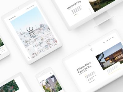 Loft - Case Study typography white minimalism minimal branding brand design clean ui ux web
