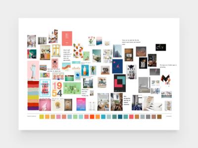 Loft - Colours minimalism minimal branding brand design clean colours colors exploration process