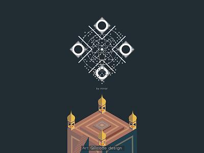 Monument Valley  Art QRcode design art illustration qrcode design