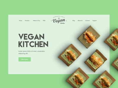 Vegan Kitchen — Landing page
