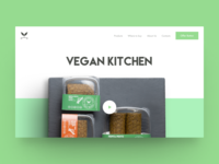 Vegan Kitchen (concept #2) — Landing page