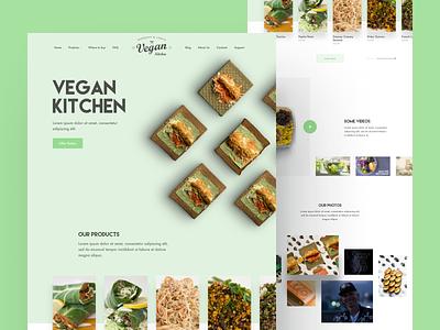 Vegan Kitchen (final) — Landing page product web web design product design shop vegan kitchen food green design minimalism landing page landing clear