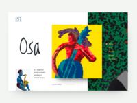 Portfolio website for Osa artist