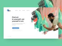 Art academy web page
