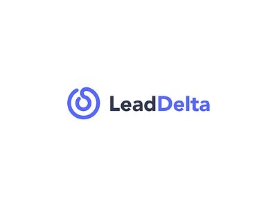 LeadDelta logo branding ui typography modern creative simple logo design