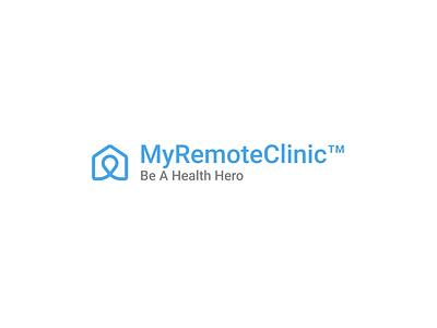 Logo design for MyRemoteClinic company identity brand typography illustration modern creative simple design logo