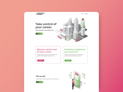 Website Design for InsightsWork webdesign website company design brand illustration branding creative ux ui