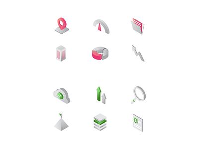 Set of icons icons icon set design company modern simple creative branding illustration vector