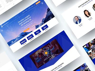 SaaS North website design website design identity company brand ux ui modern design