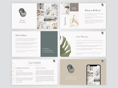 PPT Presentation Design ppt organic brand creative simple design presentation design