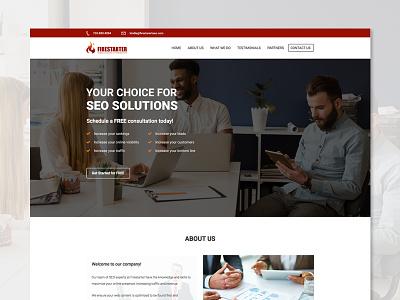 Landing page design seo company brand modern creative simple ux ui design landing page