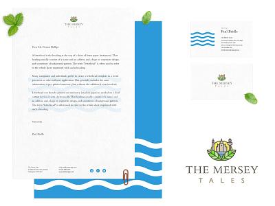 The Mersey Tales Brand guidelines blue adobe illustrator brochure letters company branding art vector identity brand typography illustration modern ui creative simple logo design