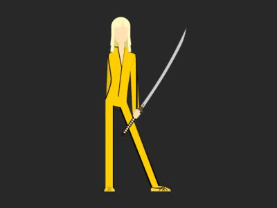 K for Kill Bill design illustrator kill bill 36daysoftype06 36days-k 36daysoftype