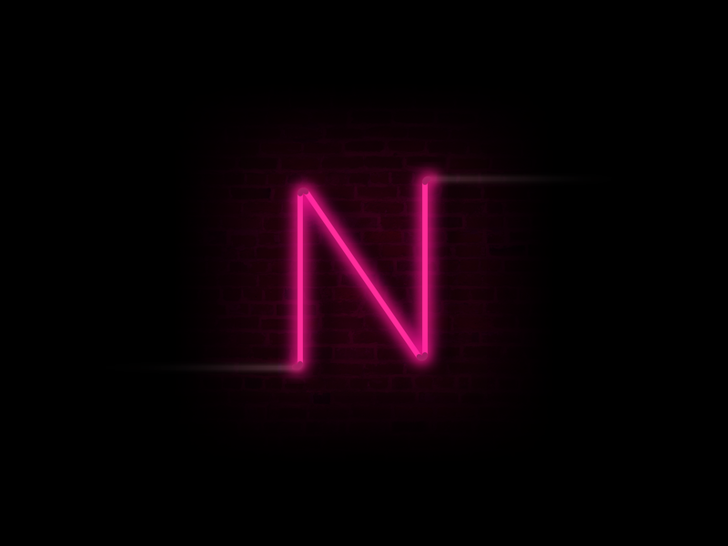 N for Neon design illustrator photoshop n 36days-n 36dayoftype 36 days of type