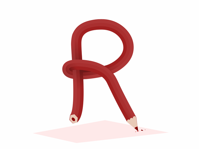 R for Red typography logo vector illustration illustrator design type color type challenge type art color r 36days-r 36 days of type 36daysoftype06 36daysoftype