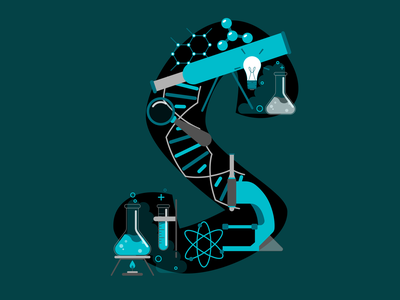 S for Science s typography science illustration science branding logo vector illustration illustrator 36 days of type 36daysoftype06 design 36daysoftype
