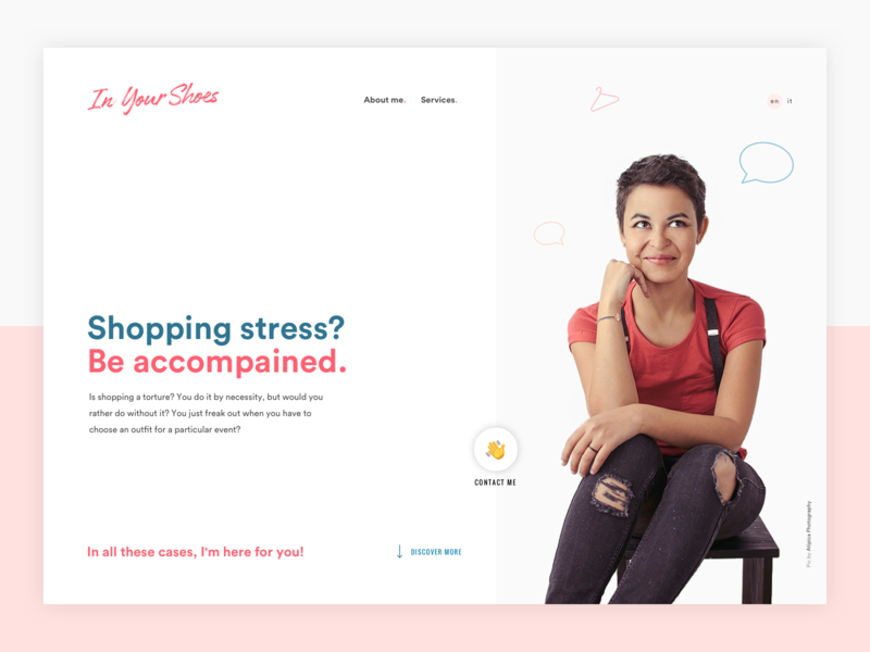 Personal Shopper landing page hero hero shopping pink landing page fashion colorful personal page