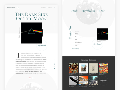 Vinyl Collection 2 website cormorant serif typography record vinyl music album music