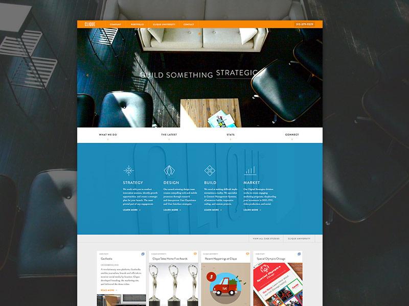 Clique Studios Redesign cliquestudios clique studios website homepage digital agency chicago video background video