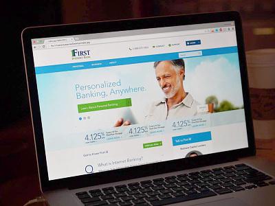 First Internet Bank financial banner rotator homepage bank banking