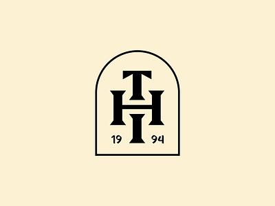 The Hound's Inn Monogram branding design branding h monogram dark black blackletters blackletter monogram logo monogram