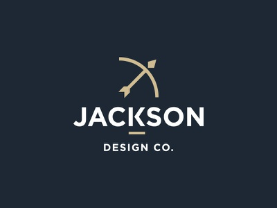 Personal Logo hello debut arrow bow identity logo personal jackson