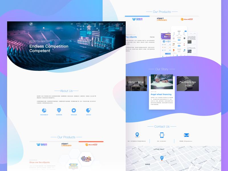 a company website company home purple blue page web