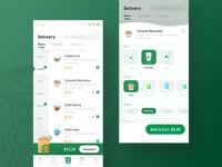 Starbucks Redesign_Delivery design green coffee app clean yiker ui