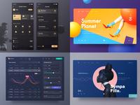 Yiker's top 4 in 2018 dark yiker app design ui