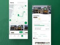 Starbucks Redesign_Stores mobile app shop map ui yiker clean coffee green design