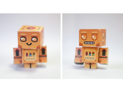 Odschool Papertoy Robots photography tangible illustrator odschool toy papertoy paper robot