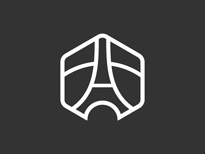 Les Contemporains logo design paris logo