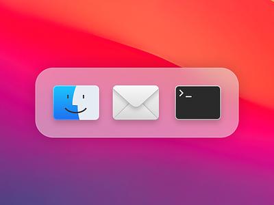 Big Sur Icon Refresh app ui apple app icons figma apps dock code terminal envelope mail finder macos icon icons macos big sur