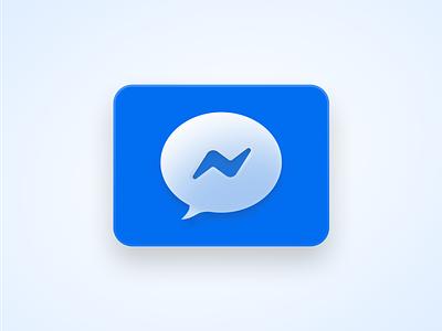Facebook Messenger Icon Refresh logo icon bubble message fb messenger facebook big sur macos icons macos icon dock apps figma app icons apple ui app