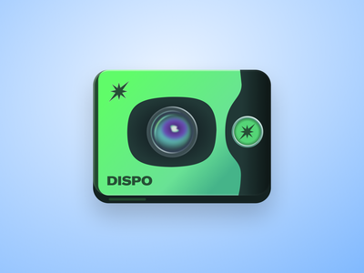 Dispo Skeuomorphic Icon vector design apple ui app icons figma apps dock ios icon ios icons app photo dispo lens camera icon logo