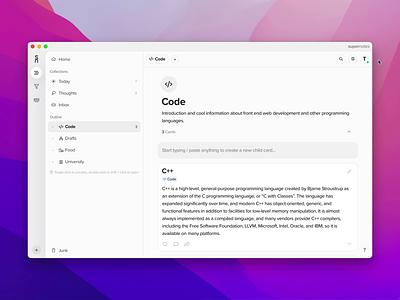 Invite Friends & Referral Codes productivity note-taking mac desktop app modal qr code codes referral friends invites web design supernotes