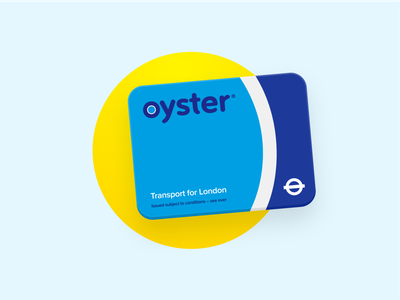 Oyster Card card transport for london wallet apple design branding logo icon oyster figma
