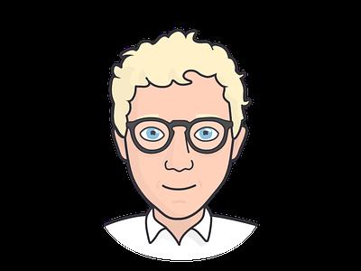 Me illustration profile self-potrait