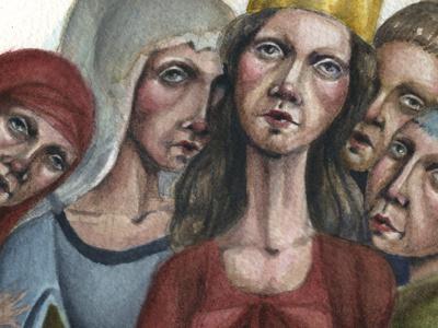 The Women watercolor illustration