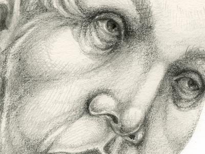 Wrinkles graphite illustration