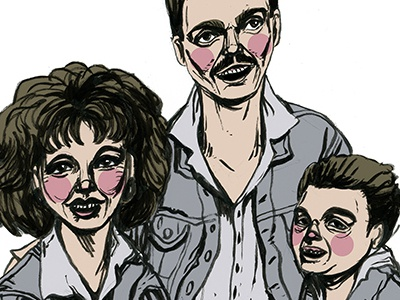 Family illustration drawing portrait