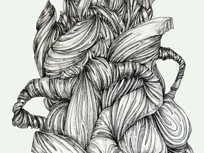 Fabrique illustration pen black and white