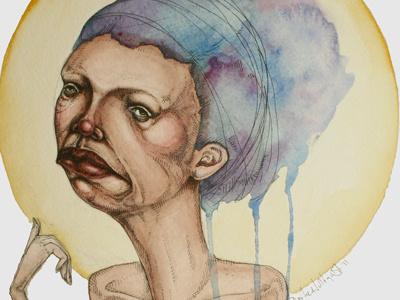 Balance watercolors illustration pen