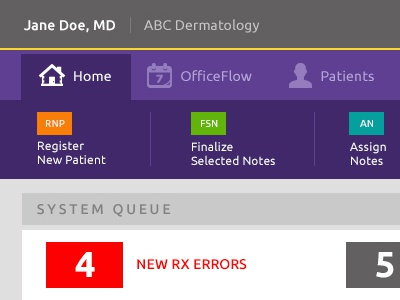 Beginning Screens for a medical app