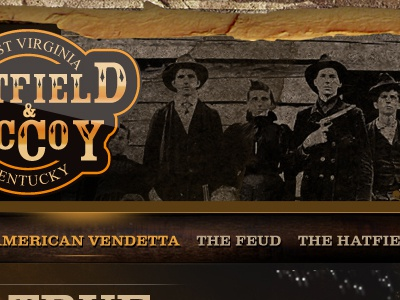 Conceptual for Hatfield and McCoy Website