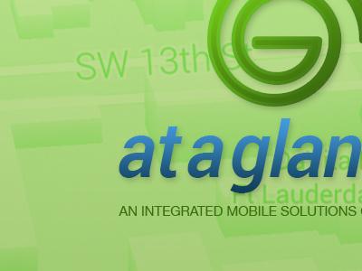 Ataglance Main Green logo ui user interface application mobile application app