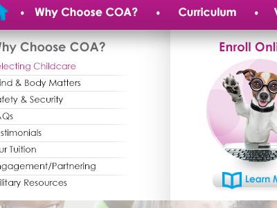 Coa Home V2 Header Option 1 R6 Dropdown V4 web web design