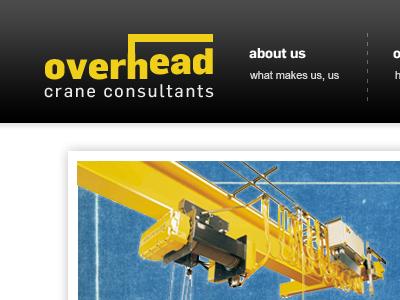 Overhead Crane Consultants logo branding website redesign