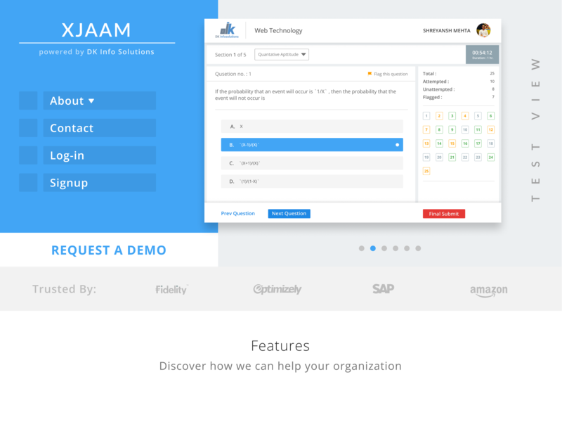 XJAAM - Learning Management System web deisgn user interface design user experience design ui website