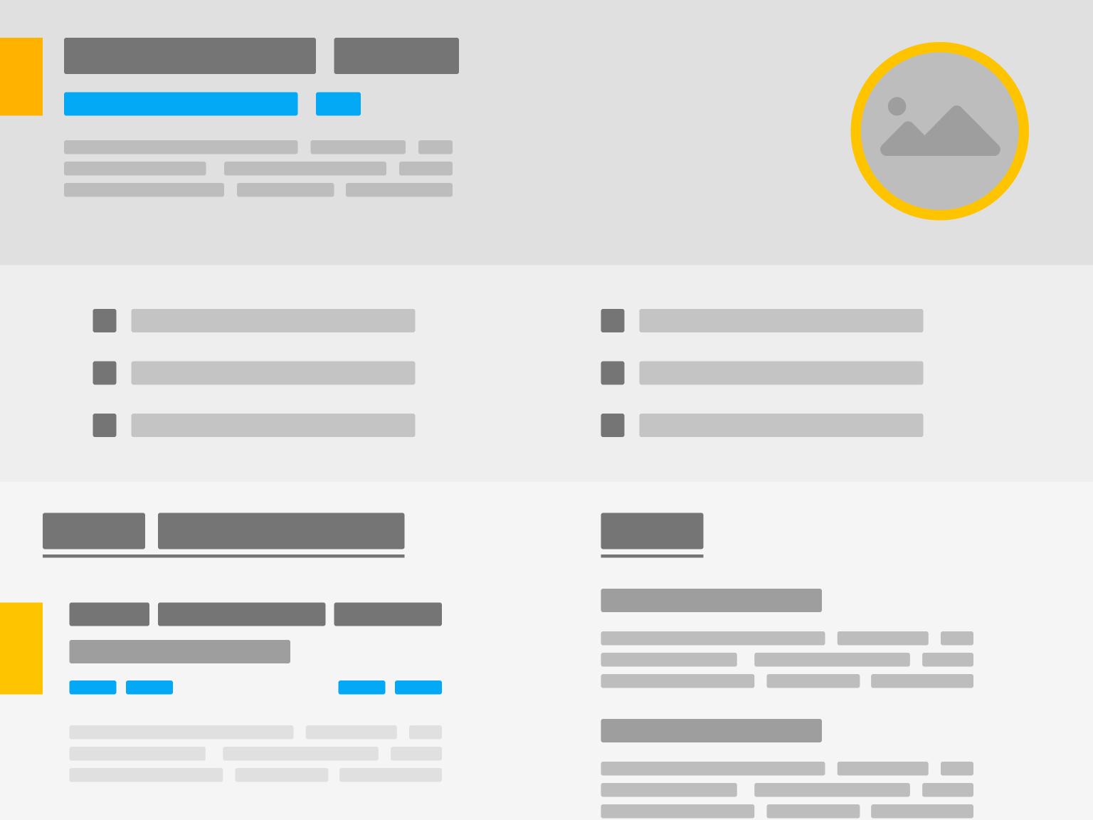 Portfolio/Resume Template resume design portfolio design web deisgn user interface design user experience design